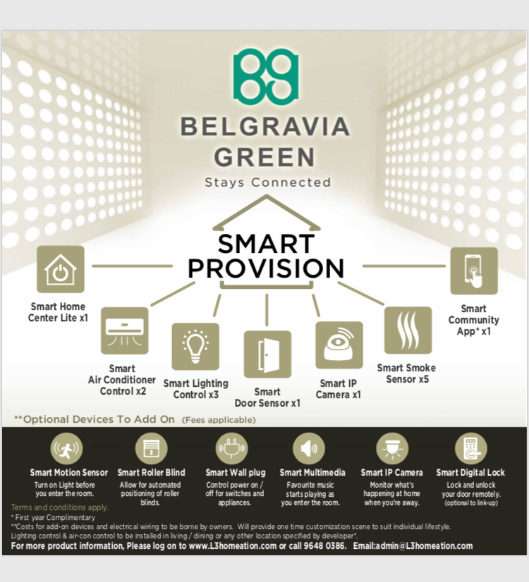 Belgravia Green Smart Provision System, Smart Home App, developer sales, clara heng