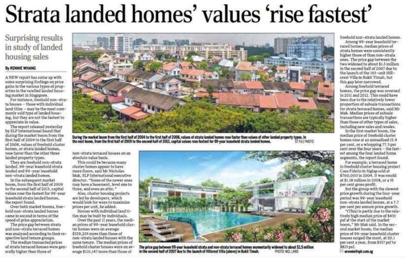 17 April 2015 - SPH news Strata Landed Homes Values Rise Fastest
